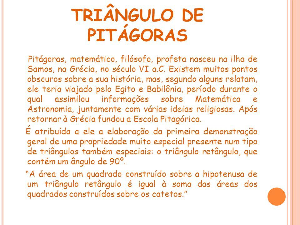 TRIÂNGULO DE PITÁGORAS