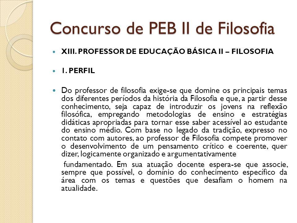 Concurso de PEB II de Filosofia