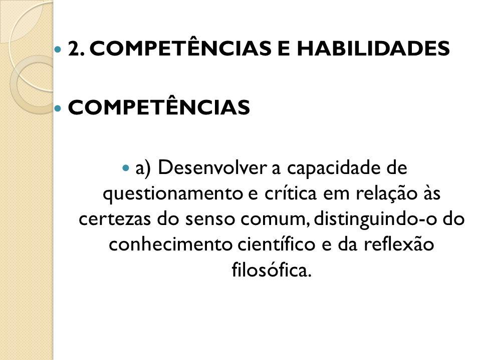 2. COMPETÊNCIAS E HABILIDADES