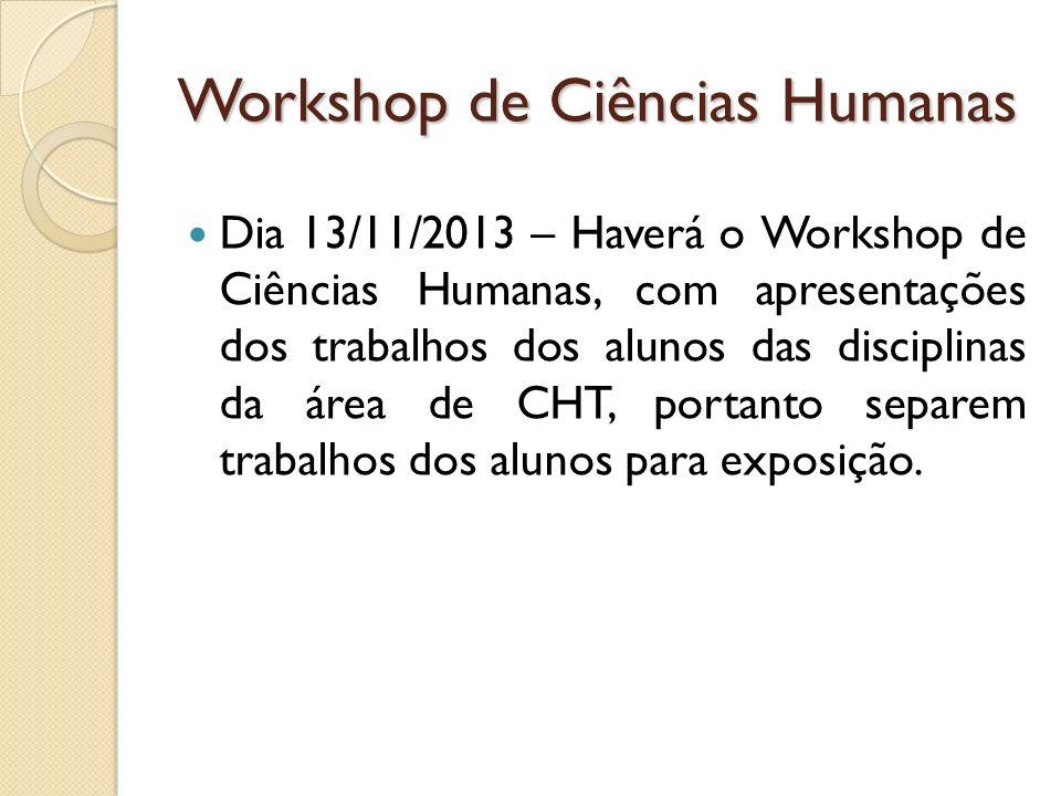 Workshop de Ciências Humanas