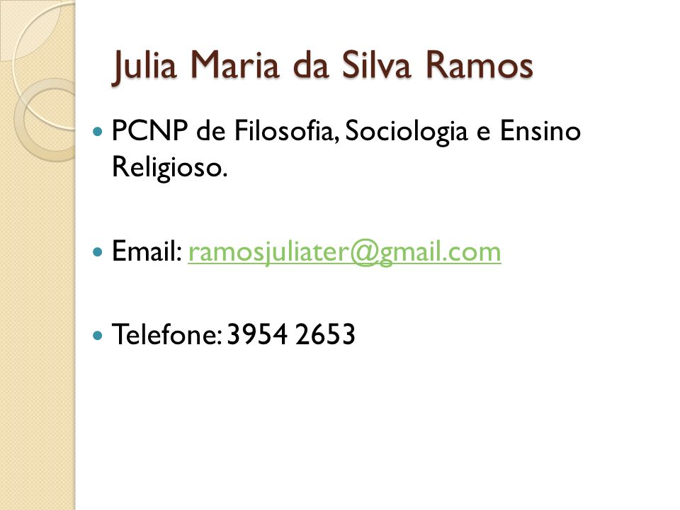 Julia Maria da Silva Ramos