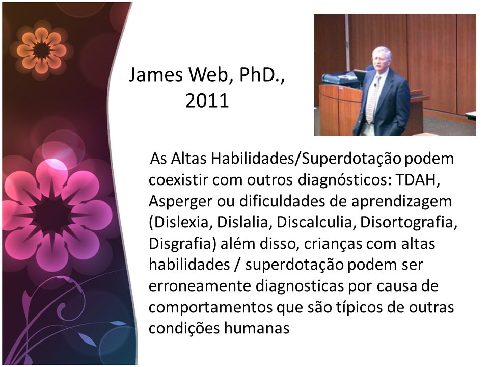 James Web, PhD., 2011