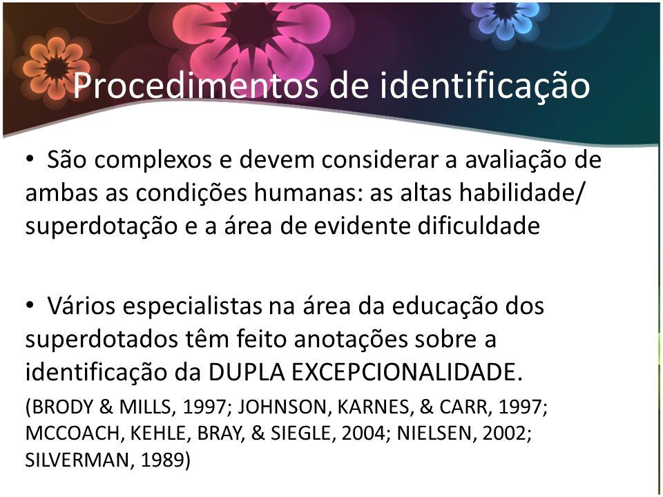 Procedimentos de identificação