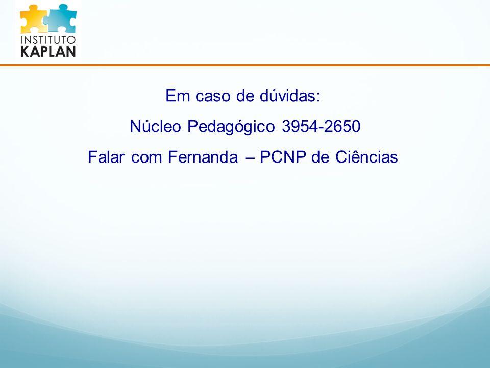 Falar com Fernanda – PCNP de Ciências