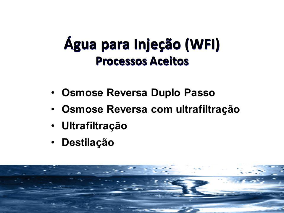 Água para Injeção (WFI) Processos Aceitos