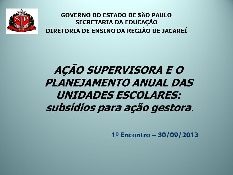 GOVERNO DO ESTADO DE SÃO PAULO SECRETARIA DA EDUCAÇÃO DIRETORIA DE ENSINO DA REGIÃO DE JACAREÍ