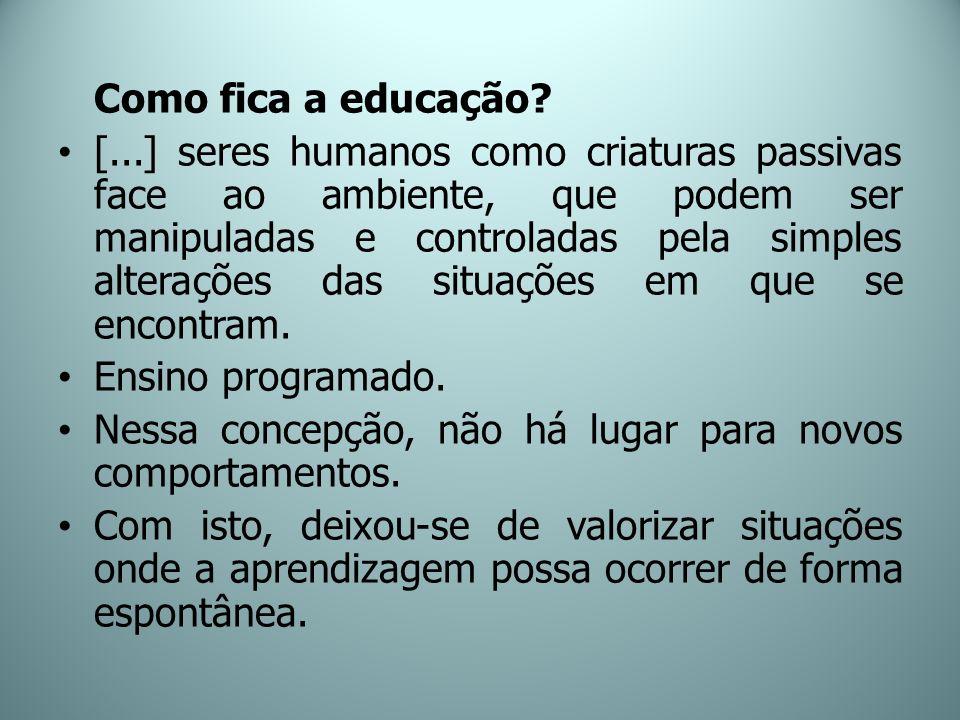 Como fica a educação