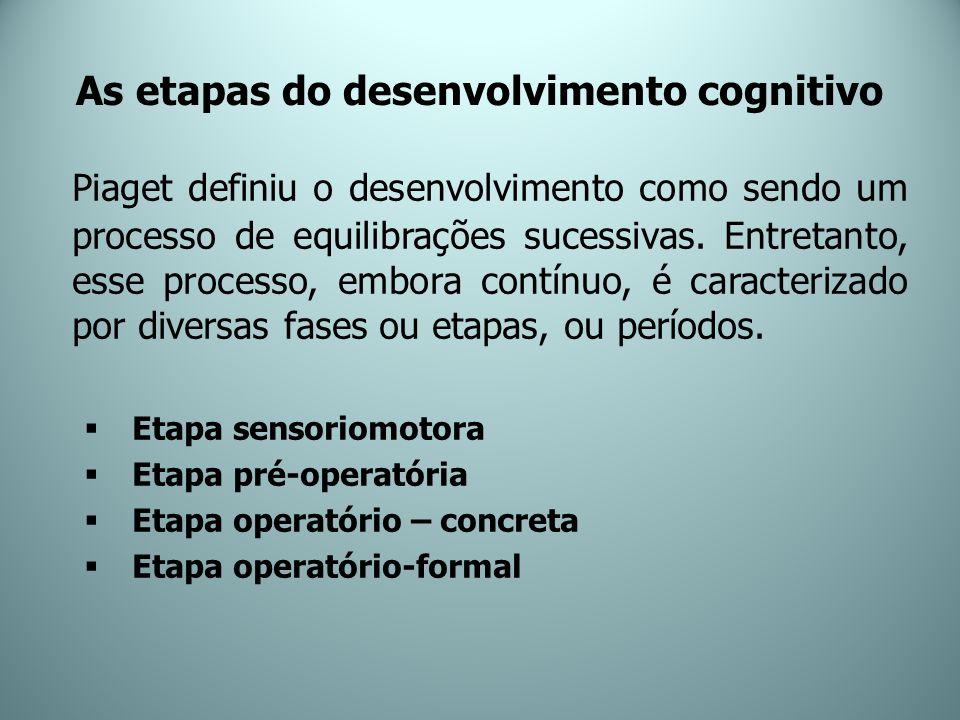 As etapas do desenvolvimento cognitivo