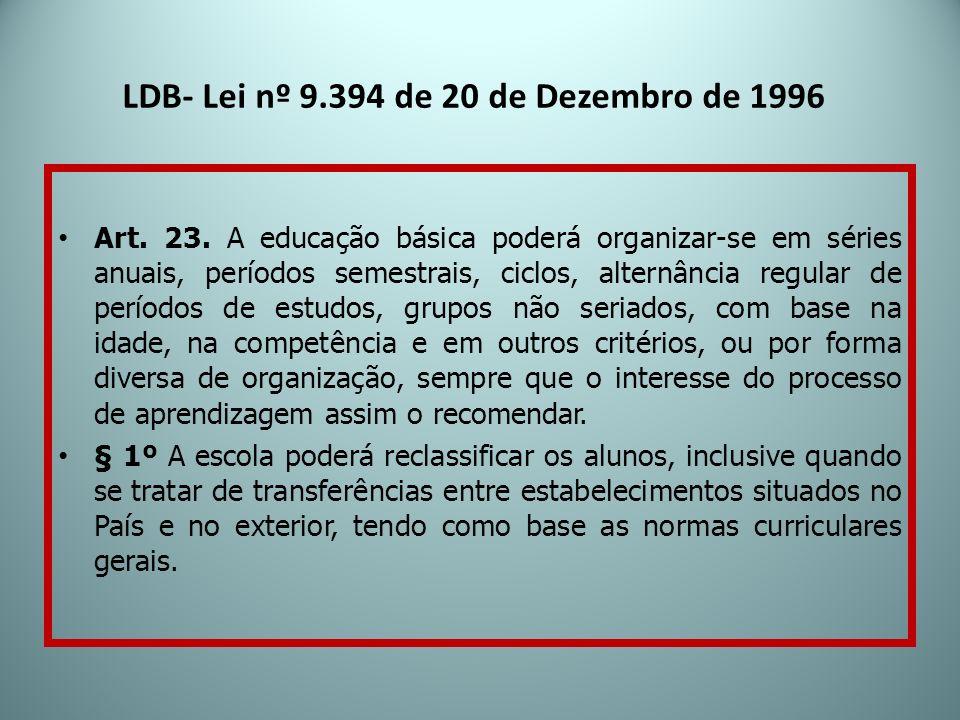 LDB- Lei nº 9.394 de 20 de Dezembro de 1996