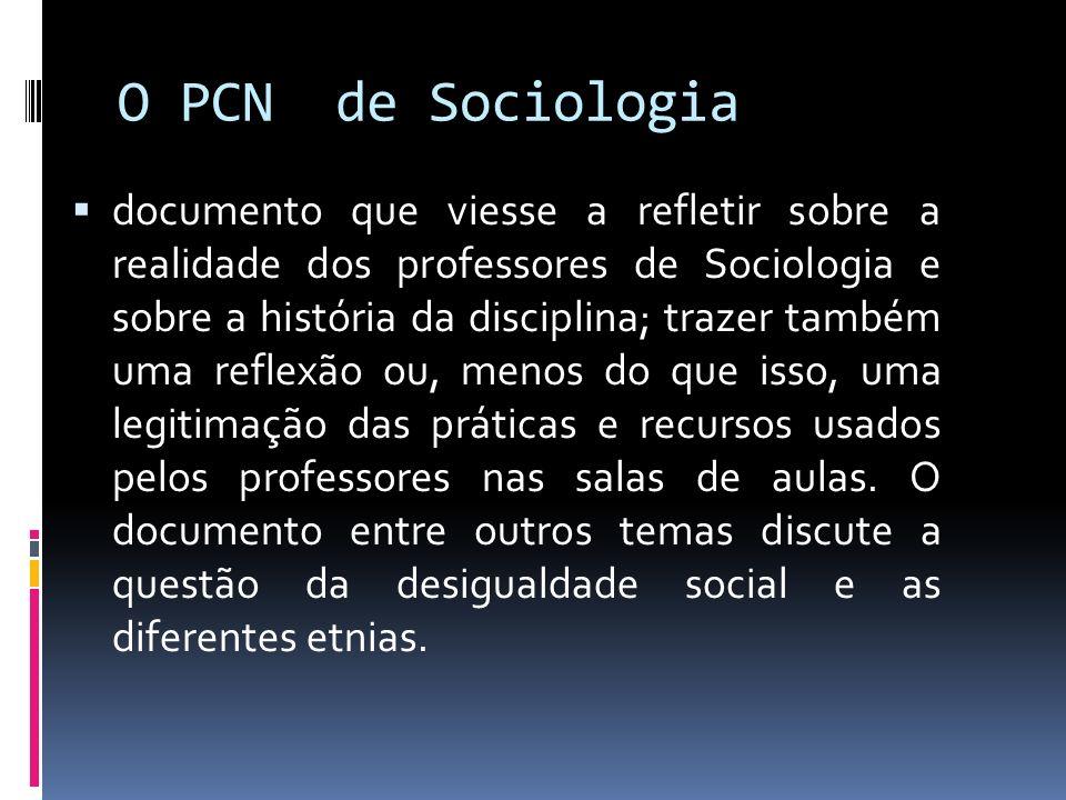 O PCN de Sociologia