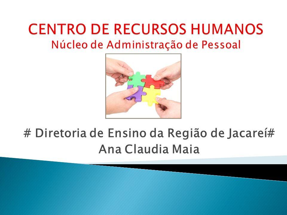 CENTRO DE RECURSOS HUMANOS Núcleo de Administração de Pessoal