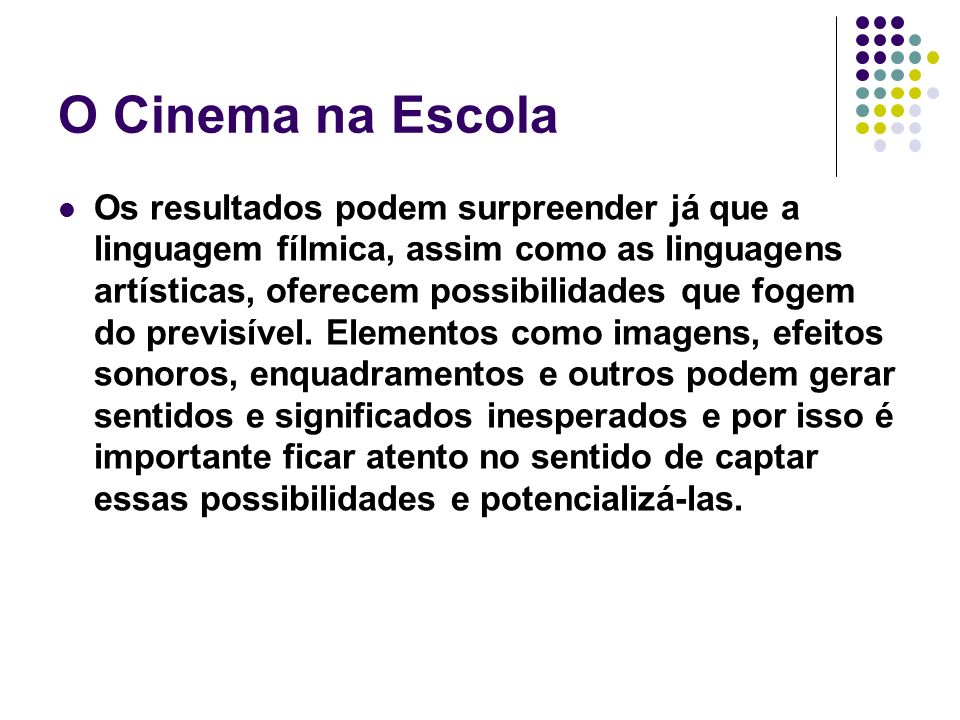 O Cinema na Escola