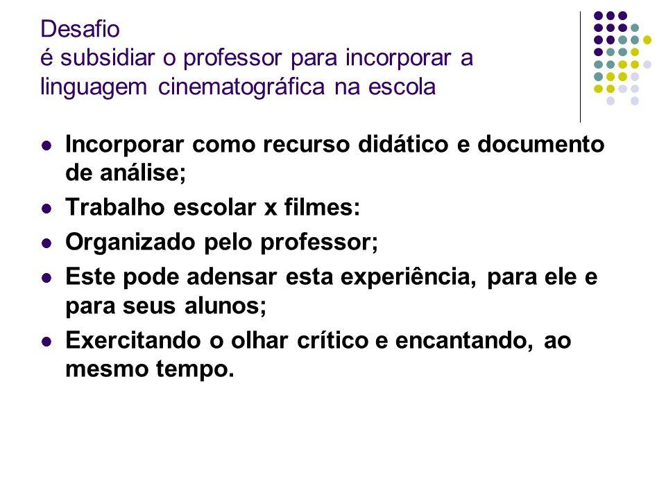 Desafio é subsidiar o professor para incorporar a linguagem cinematográfica na escola