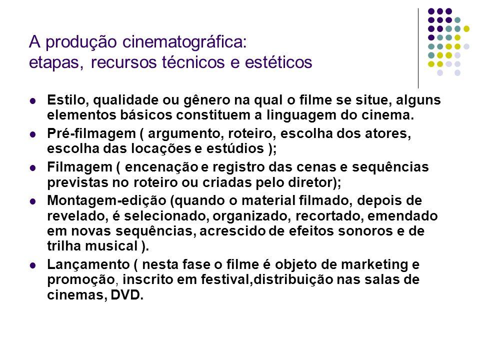 A produção cinematográfica: etapas, recursos técnicos e estéticos