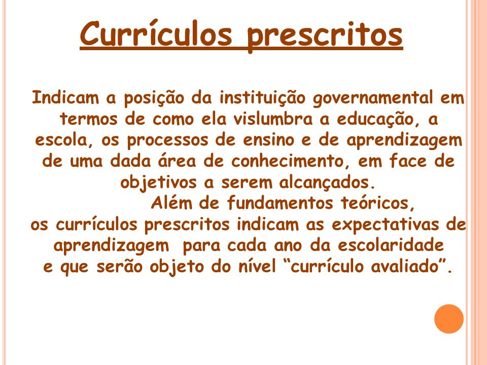 Currículos prescritos