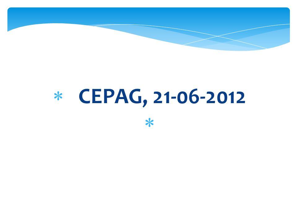 CEPAG, 21-06-2012