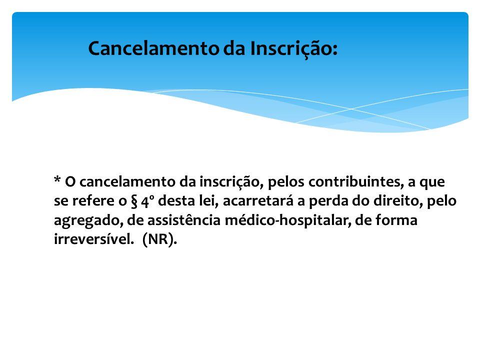 Cancelamento da Inscrição: