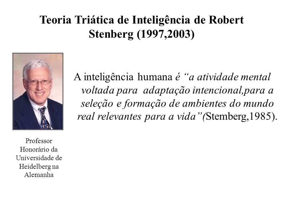 Teoria Triática de Inteligência de Robert Stenberg (1997,2003)