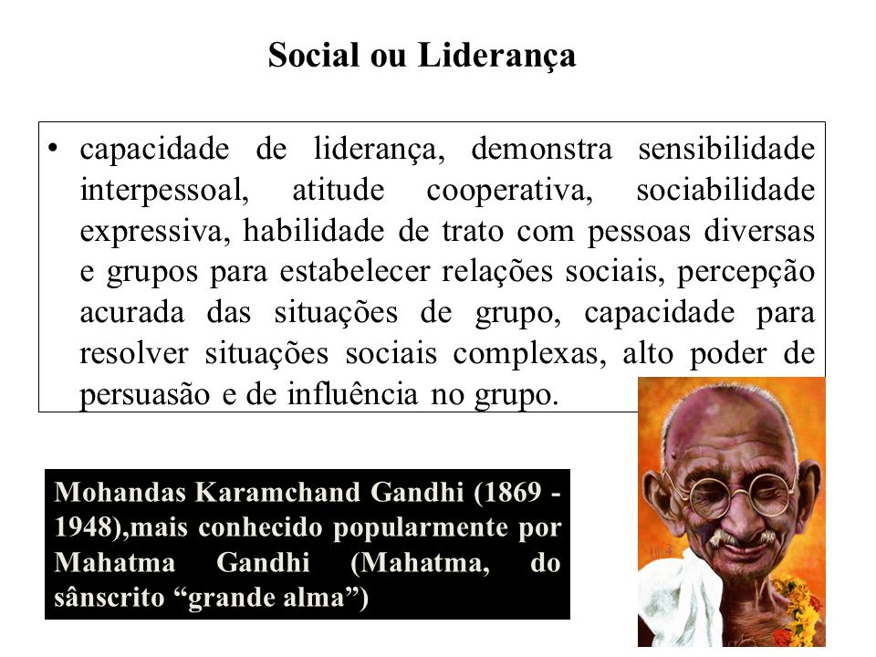 Social ou Liderança