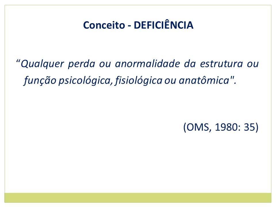 Conceito - DEFICIÊNCIA