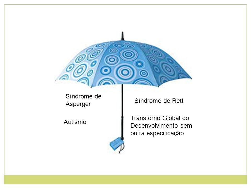 Síndrome de Asperger Síndrome de Rett. Transtorno Global do Desenvolvimento sem outra especificação.