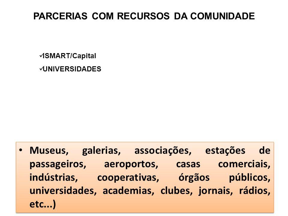 PARCERIAS COM RECURSOS DA COMUNIDADE