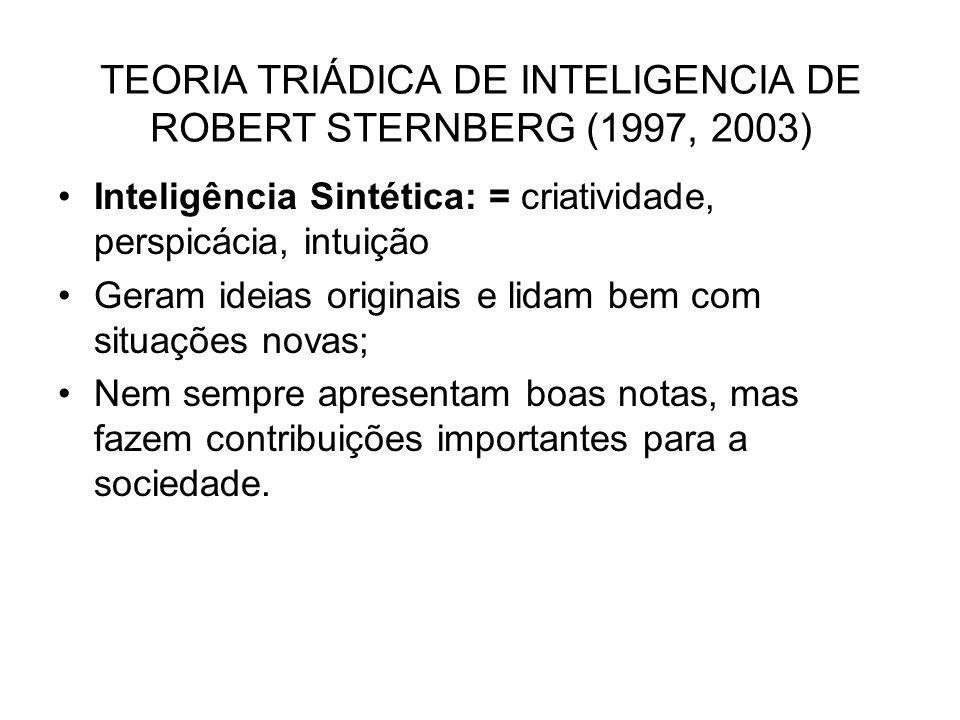 TEORIA TRIÁDICA DE INTELIGENCIA DE ROBERT STERNBERG (1997, 2003)