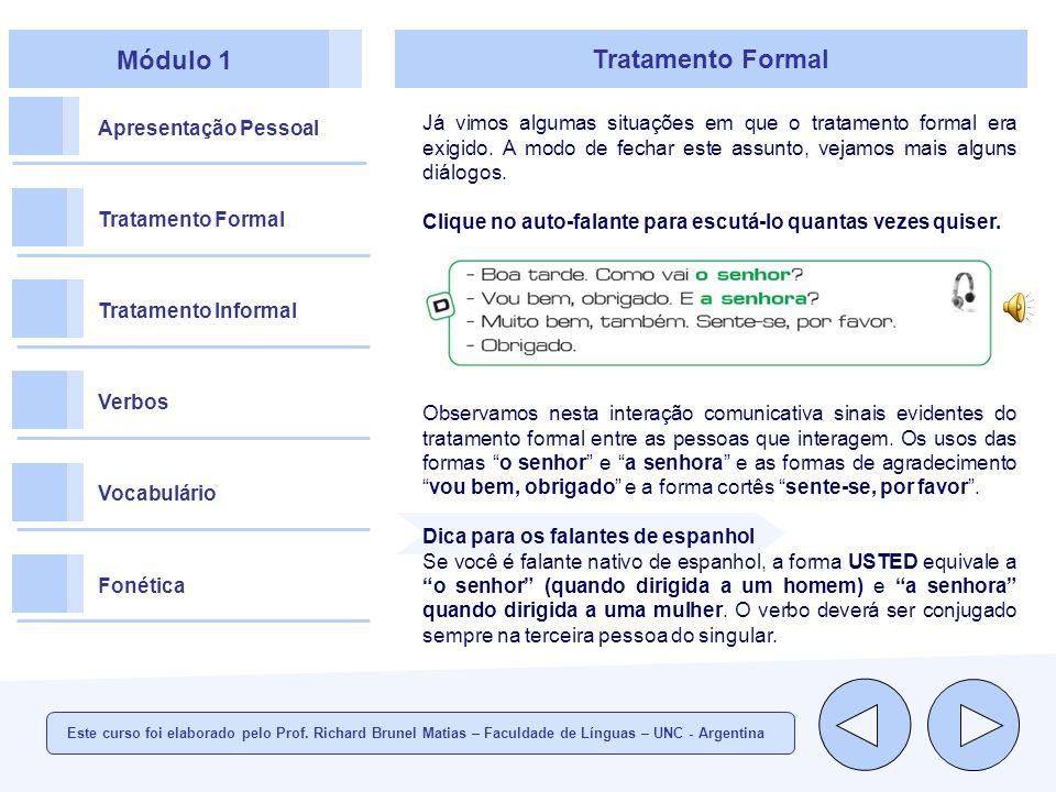 Módulo 1 Tratamento Formal