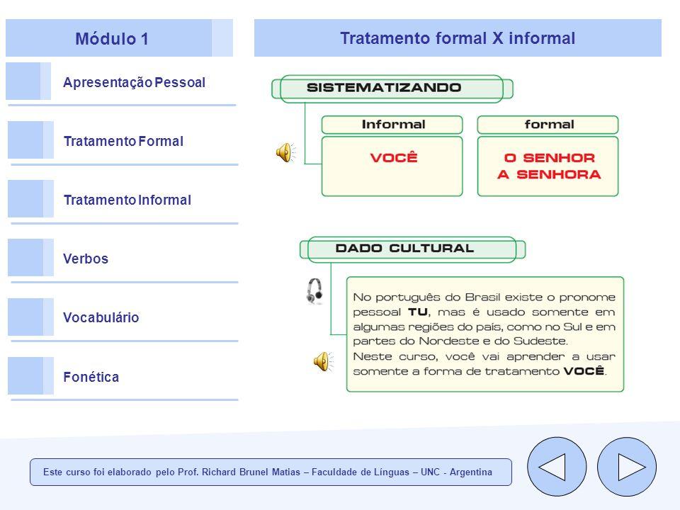 Tratamento formal X informal