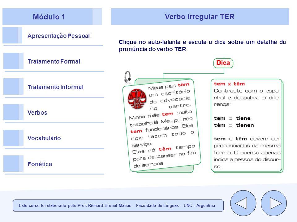 Módulo 1 Verbo Irregular TER