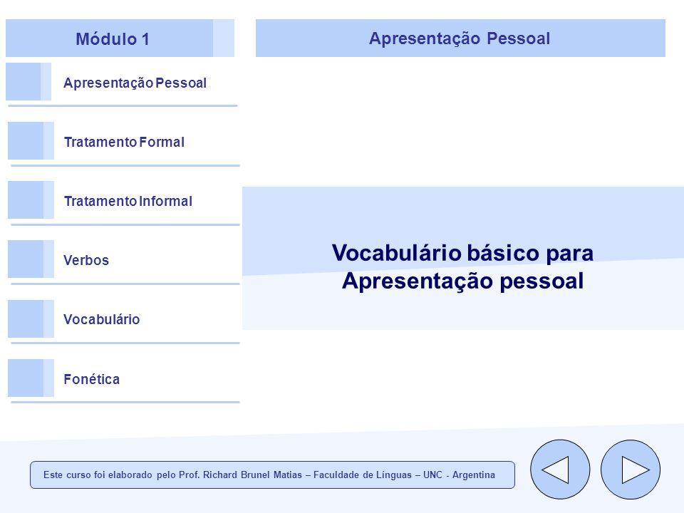 Vocabulário básico para