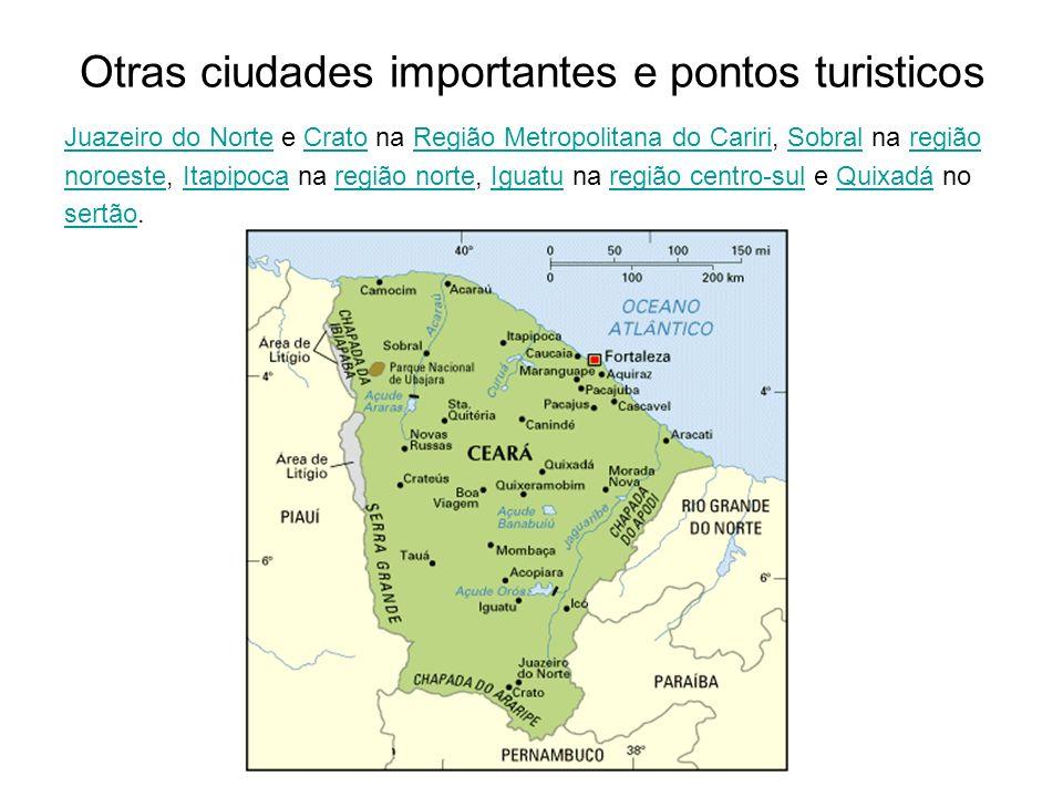 Otras ciudades importantes e pontos turisticos