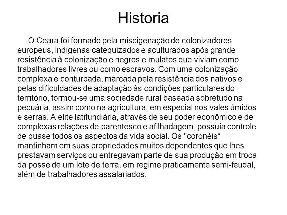 Historia O Ceara foi formado pela miscigenação de colonizadores