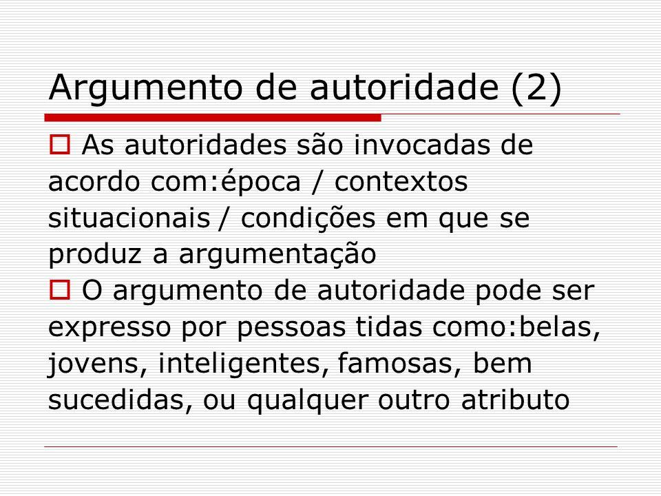 Argumento de autoridade (2)