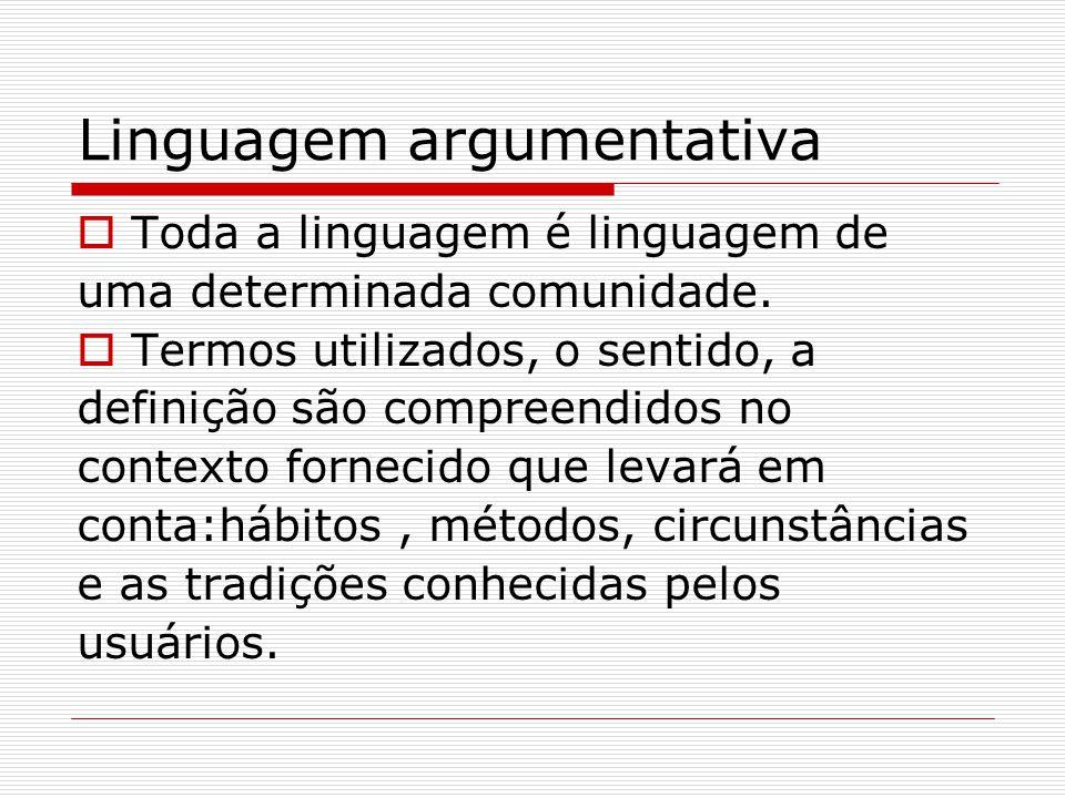 Linguagem argumentativa