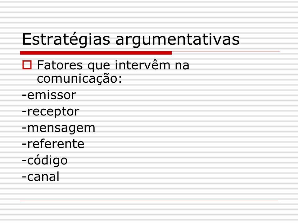 Estratégias argumentativas