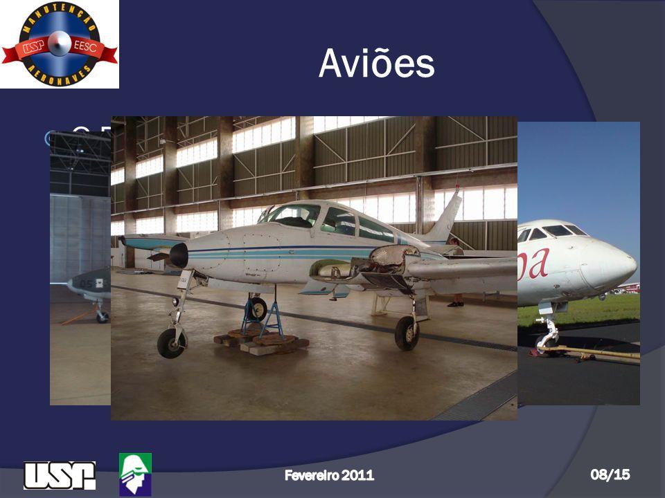 Aviões O Departamento de Engenharia Aeronáutica possui 03 aviões: