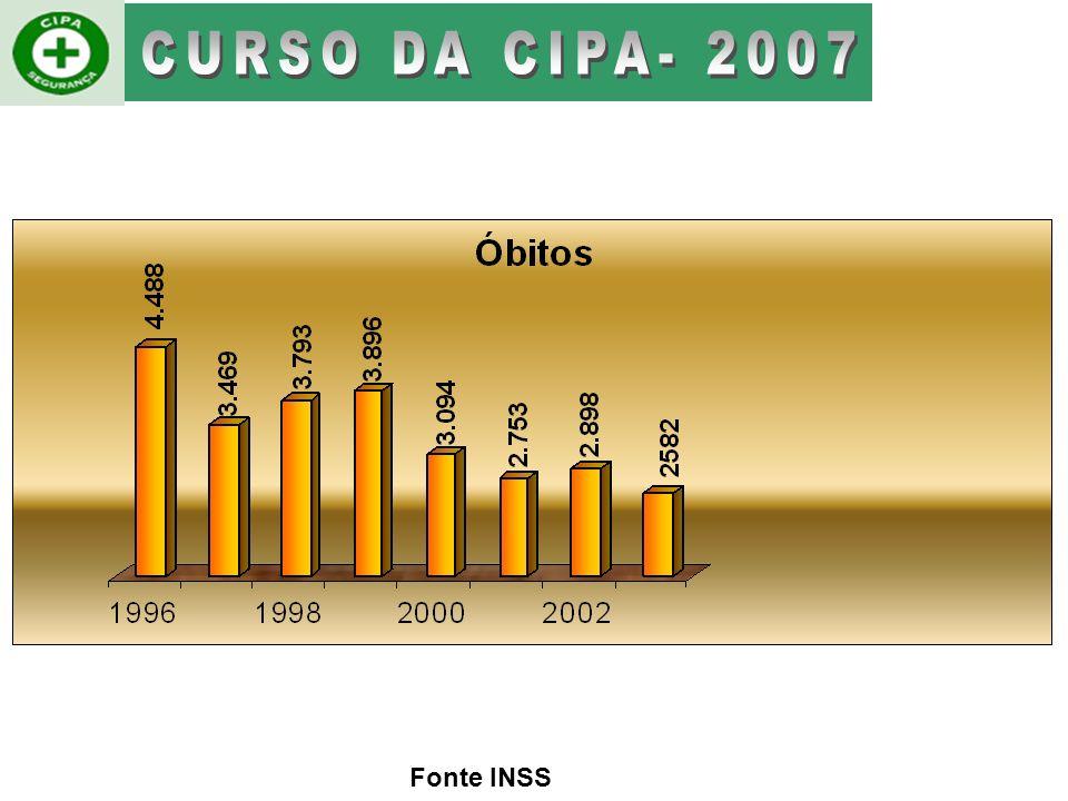 CURSO DA CIPA- 2007 Fonte INSS