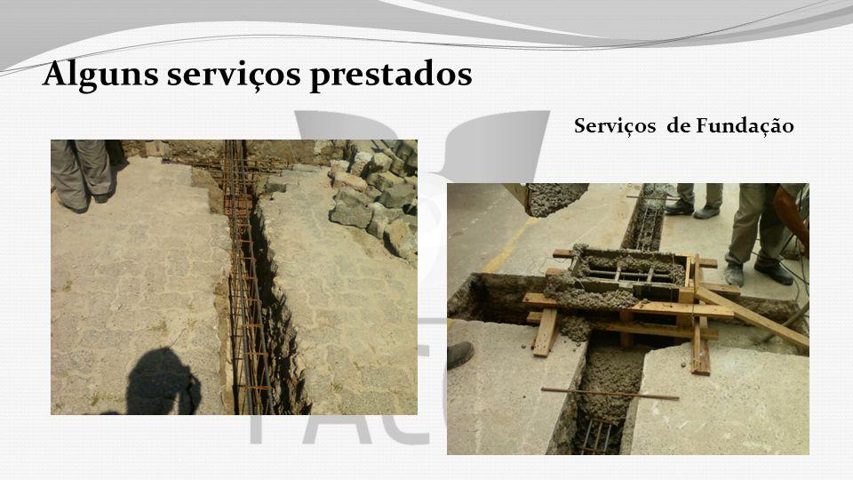 Alguns serviços prestados