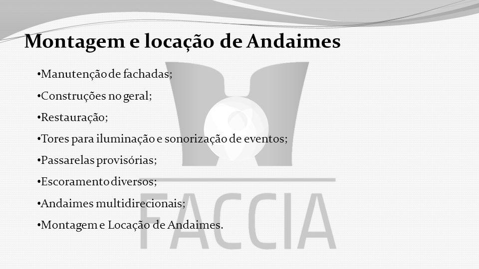 Montagem e locação de Andaimes