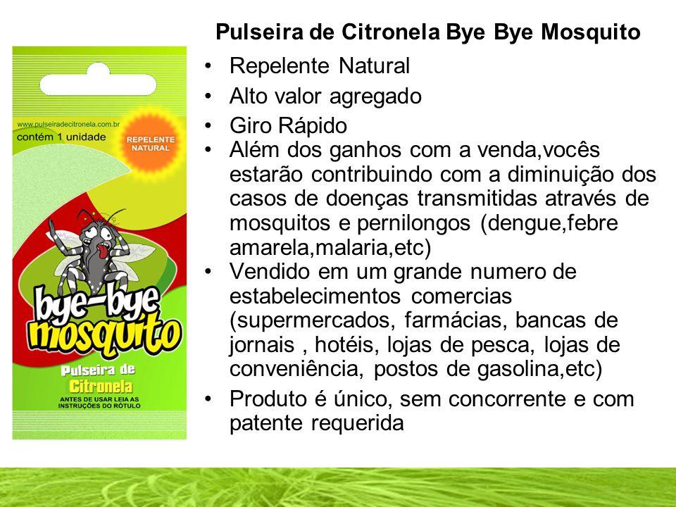 Pulseira de Citronela Bye Bye Mosquito
