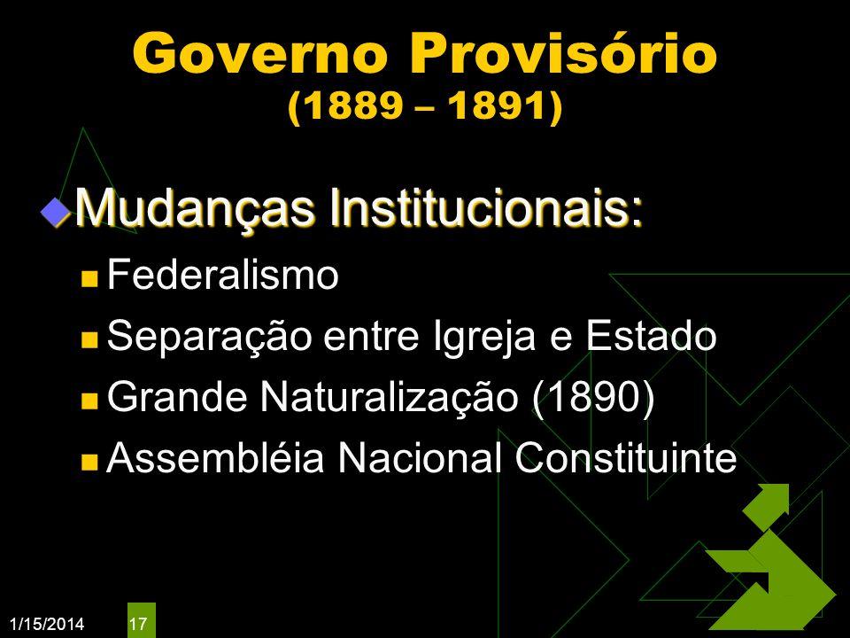 Governo Provisório (1889 – 1891)