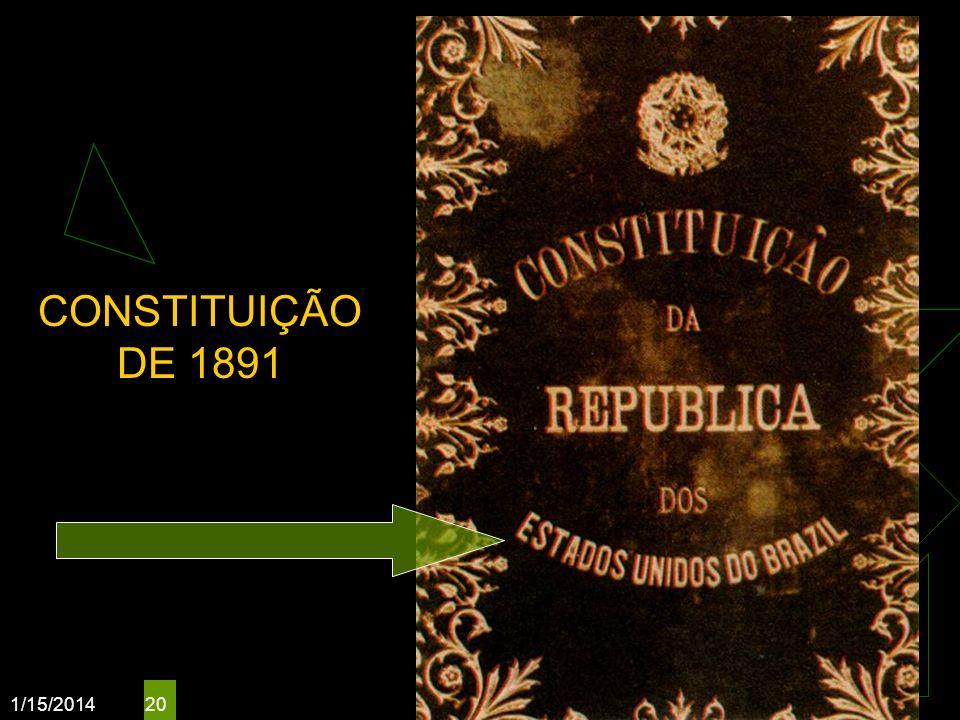 CONSTITUIÇÃO DE 1891 3/25/2017