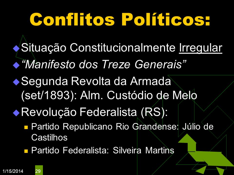 Conflitos Políticos: Situação Constitucionalmente Irregular