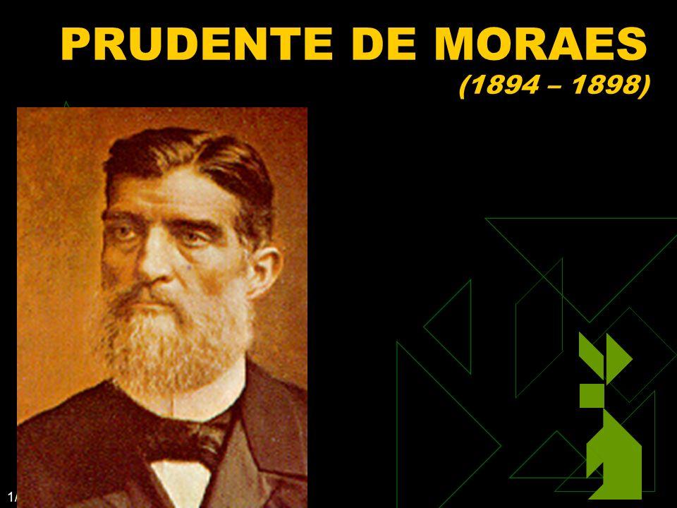 PRUDENTE DE MORAES (1894 – 1898) Clique para adicionar texto 3/25/2017