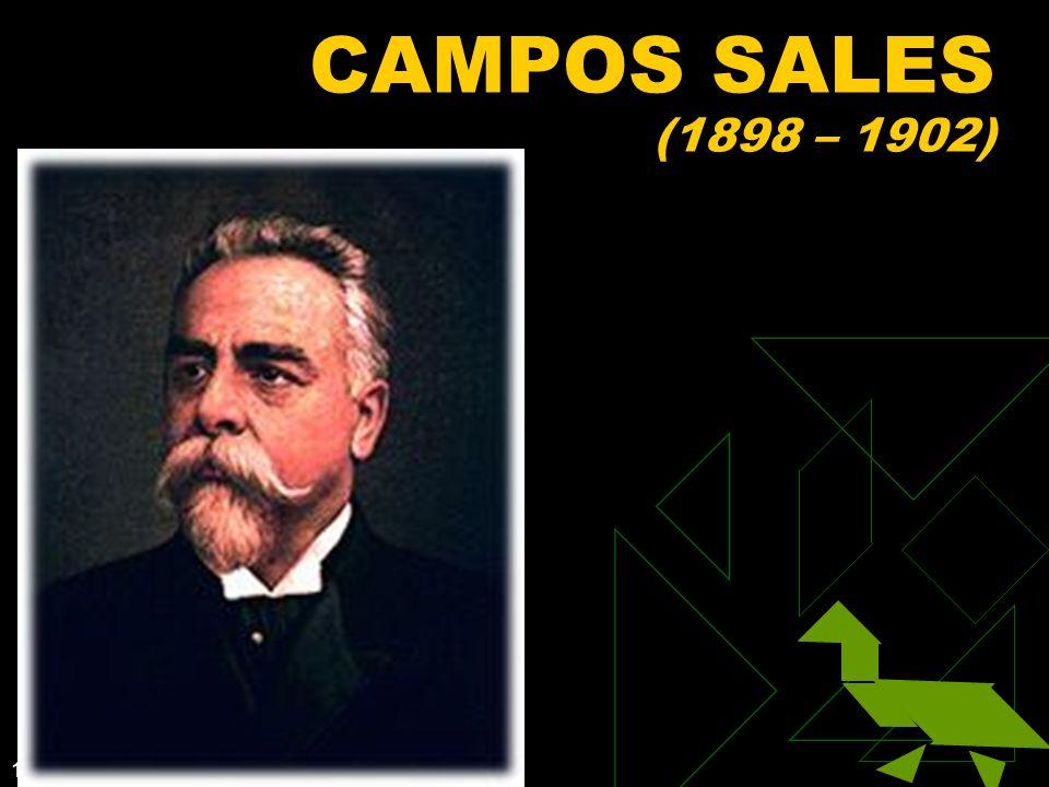 CAMPOS SALES (1898 – 1902) Clique para adicionar texto 3/25/2017