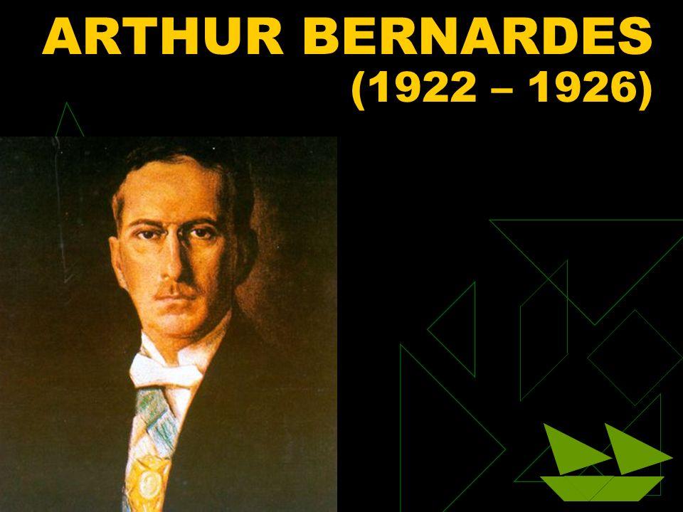 ARTHUR BERNARDES (1922 – 1926) Clique para adicionar texto 3/25/2017