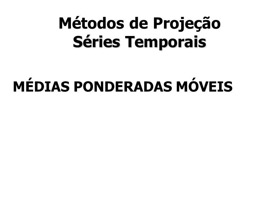 Métodos de Projeção Séries Temporais