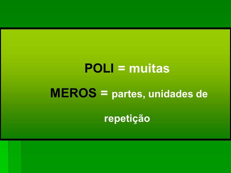 MEROS = partes, unidades de repetição
