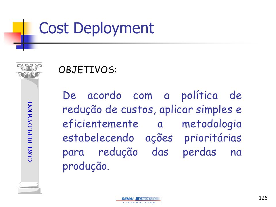Cost Deployment COST DEPLOYMENT. OBJETIVOS: